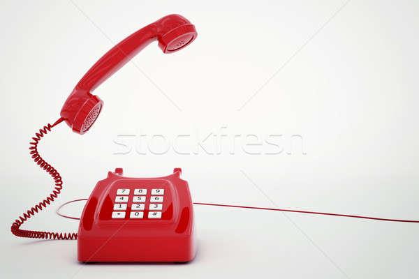 3D rendering telephone Stock photo © alphaspirit