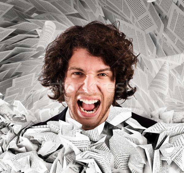 Screaming stressed from overwork Stock photo © alphaspirit