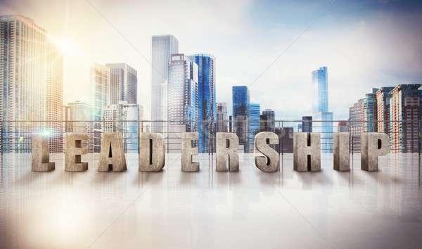 ビジネス リーダーシップ 表示 3D レンダリング 書かれた ストックフォト © alphaspirit