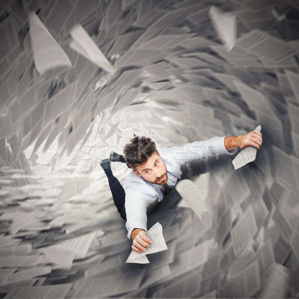 Businessman is going to fall Stock photo © alphaspirit