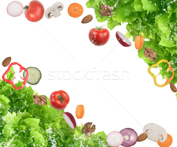 Mista insalata pomodori funghi cibo sano Foto d'archivio © alphaspirit