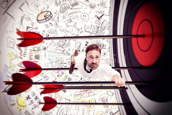 Manier succes man pijlen target business Stockfoto © alphaspirit