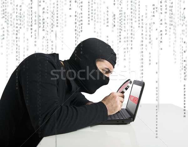 Hacker and password Stock photo © alphaspirit