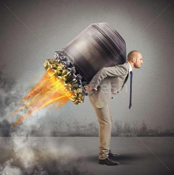 Imprenditore fuggire determinato soldi uomo Foto d'archivio © alphaspirit