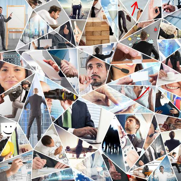 Business life collage Stock photo © alphaspirit