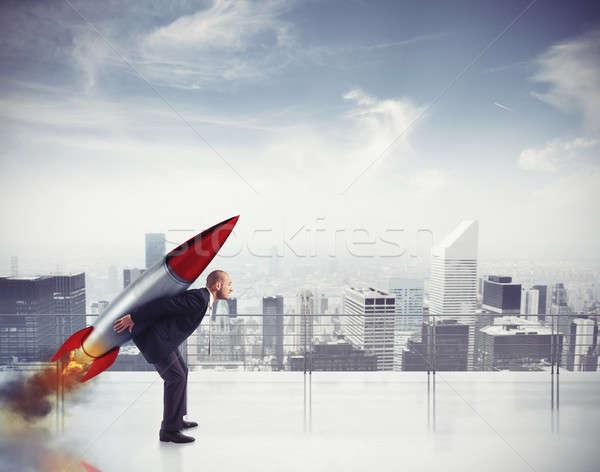 Determination and power businessman Stock photo © alphaspirit