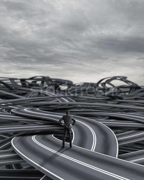 選択肢 ビジネスマン 難しい キャリア 混乱 ビジネス ストックフォト © alphaspirit
