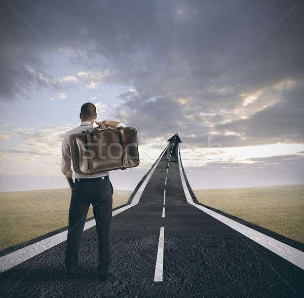 Success and career of a businessman Stock photo © alphaspirit
