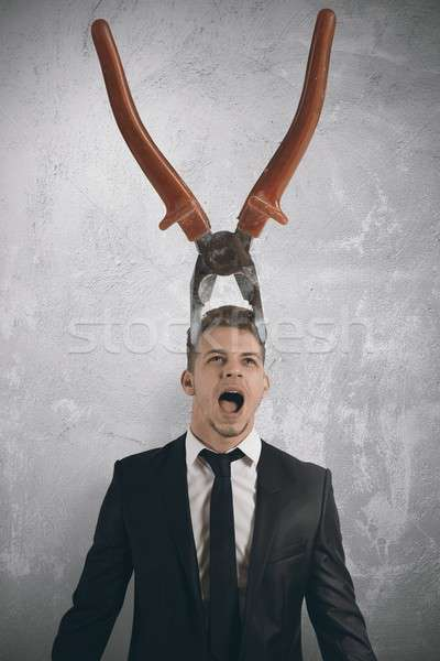 Stress and headaches Stock photo © alphaspirit