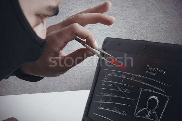 Hackers that takes a password Stock photo © alphaspirit