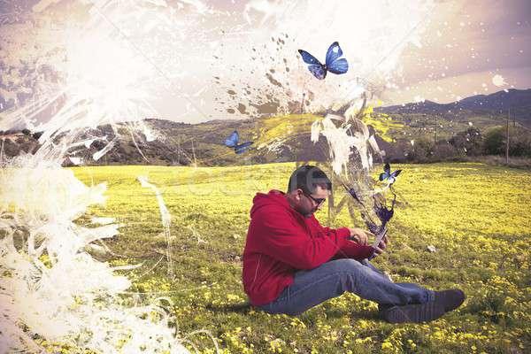 Creative technology Stock photo © alphaspirit