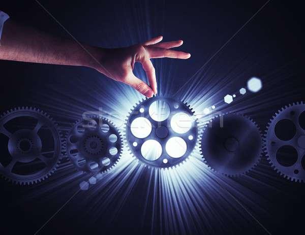 Integratie versnelling ander business werk technologie Stockfoto © alphaspirit