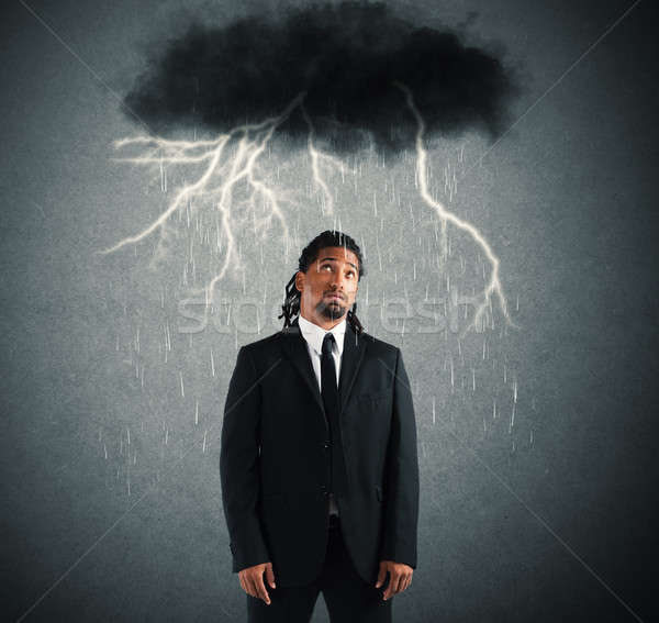 Sorrowful businessman Stock photo © alphaspirit
