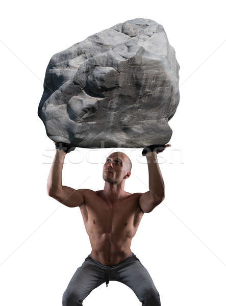 Stock photo: Hard workout