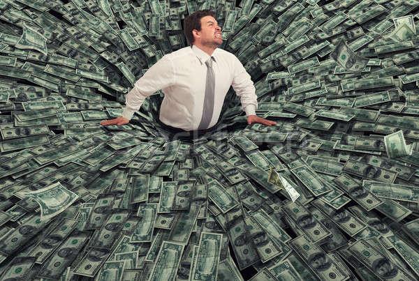 Işadamı kara delik para başarısızlık ekonomik kriz Stok fotoğraf © alphaspirit