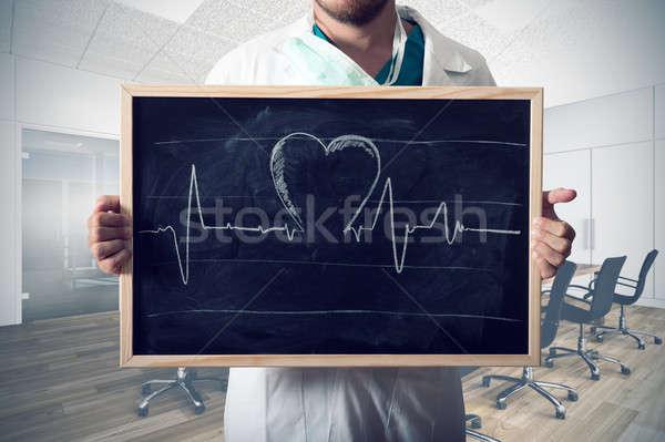 Heart graph Stock photo © alphaspirit