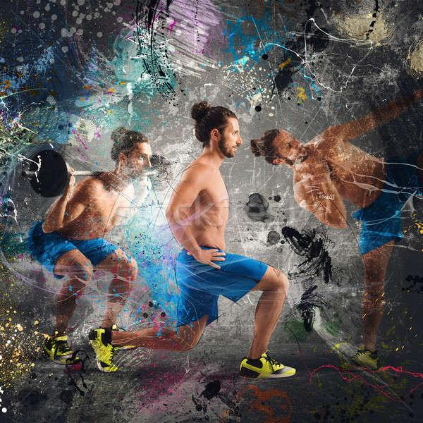 Fitness lesson Stock photo © alphaspirit