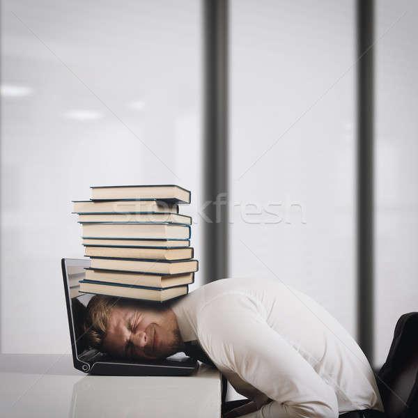 Oppressed by work Stock photo © alphaspirit