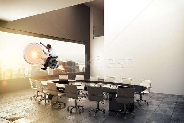Negocios idea 3D empresario Foto stock © alphaspirit