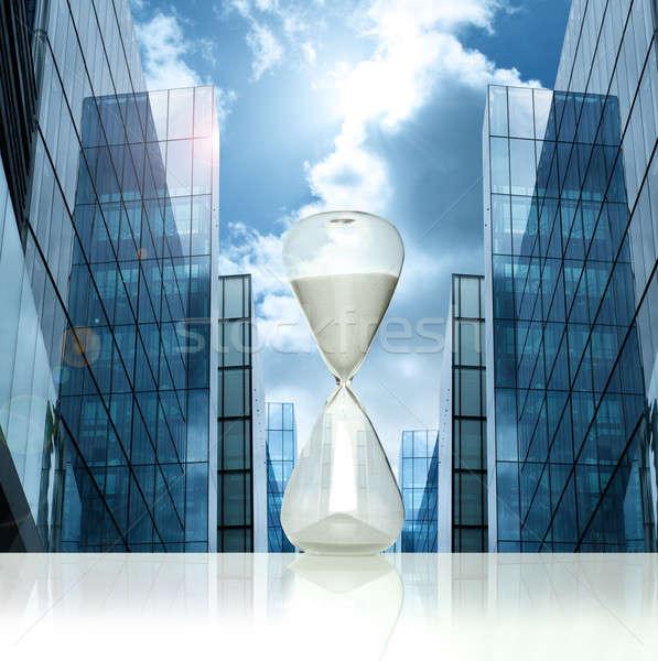 Business hourglass Stock photo © alphaspirit