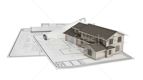 Project plastic house Stock photo © alphaspirit