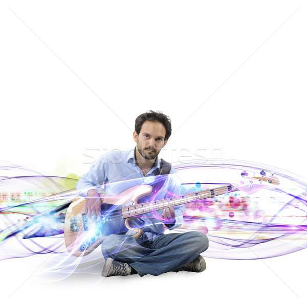 Electric guitar  effect Stock photo © alphaspirit