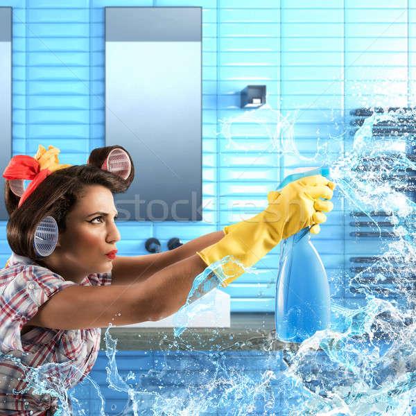 Háziasszony szappan spray határozott takarító üveg Stock fotó © alphaspirit