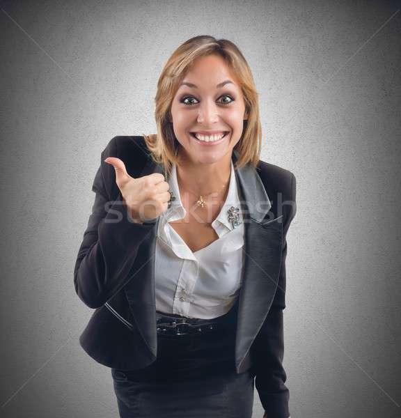 Positif femme d'affaires choix travaux affaires bureau Photo stock © alphaspirit