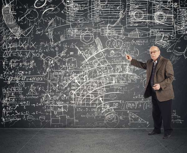 Genius aged teacher Stock photo © alphaspirit