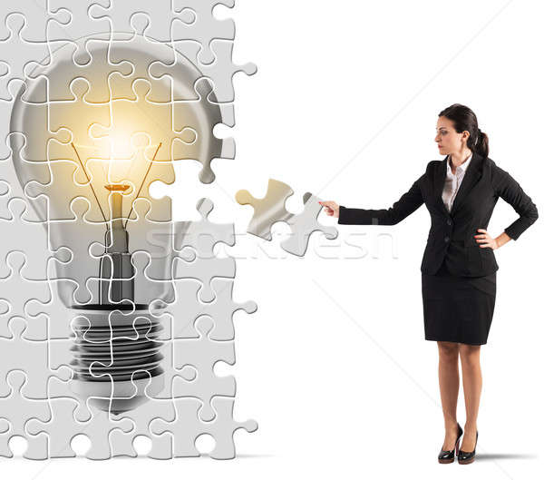 Build an idea puzzle Stock photo © alphaspirit