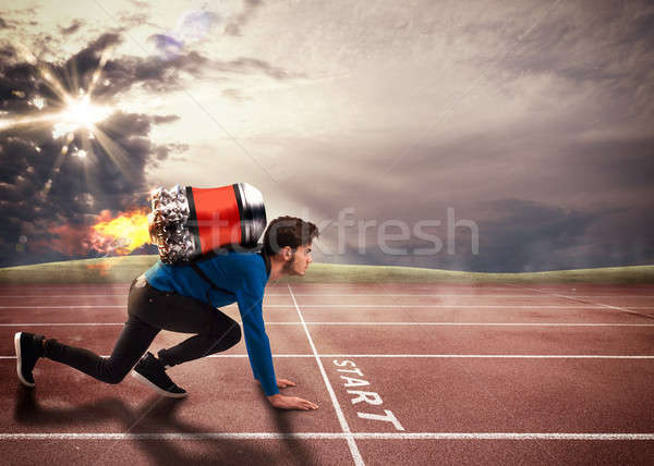 Push to overcome obstacles Stock photo © alphaspirit