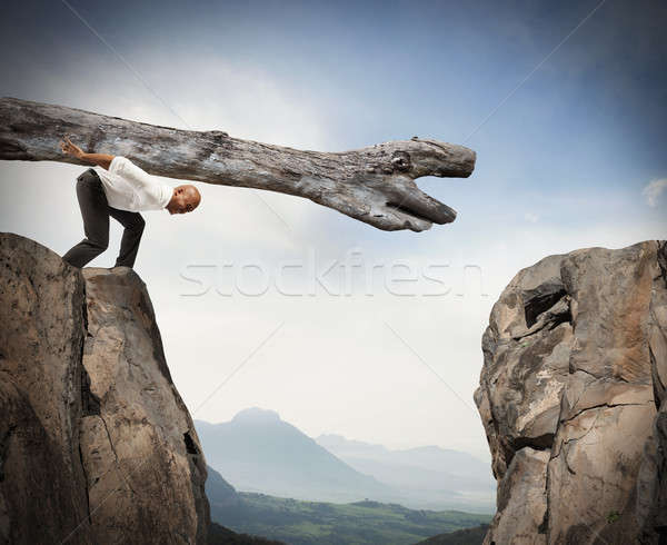 Overcoming an obstacle with a solution Stock photo © alphaspirit