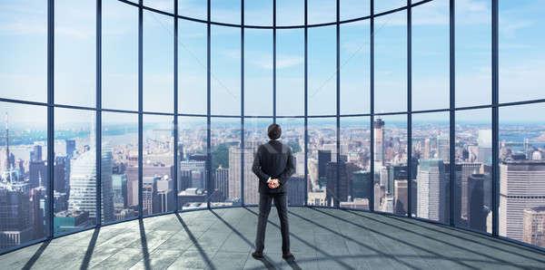 Sikeres üzletember 3D renderelt kép profi siker Stock fotó © alphaspirit
