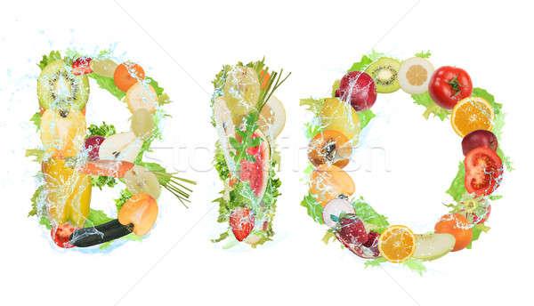 Egészséges bio étel wellness gyümölcs zöldségek Stock fotó © alphaspirit
