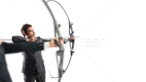 Challenge for reach and hit new business targets Stock photo © alphaspirit