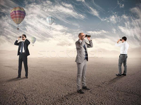 Business exploratie nieuwe zakenlieden naar Stockfoto © alphaspirit