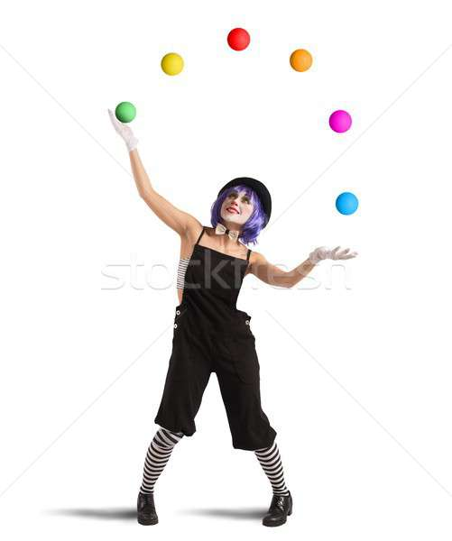 Clown like a juggler Stock photo © alphaspirit