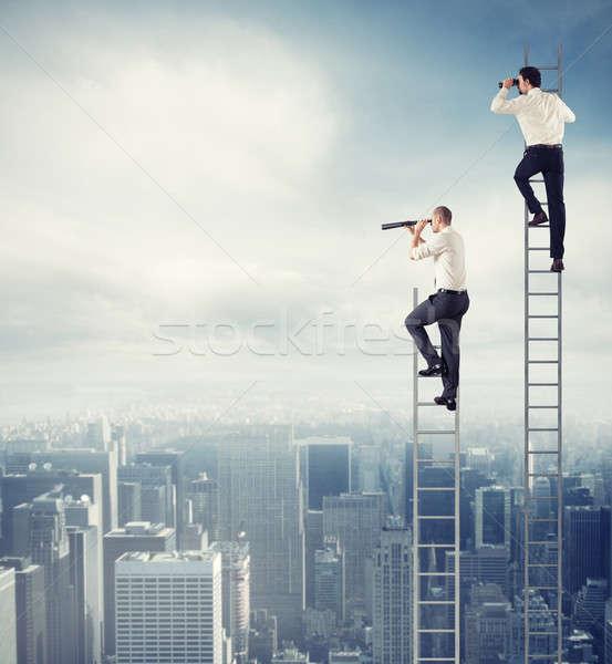 деловые люди посмотреть далеко новых бизнеса Сток-фото © alphaspirit