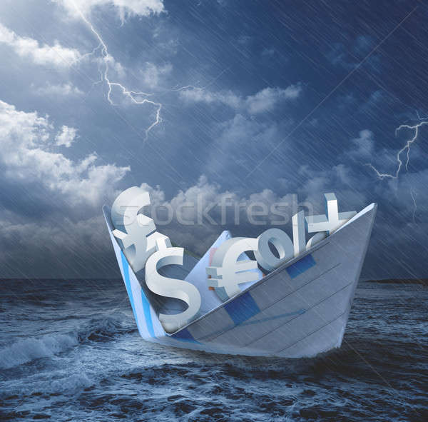 Collapse of economy concept Stock photo © alphaspirit
