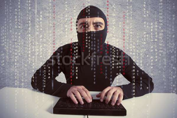 Hacker and computer virus concept Stock photo © alphaspirit