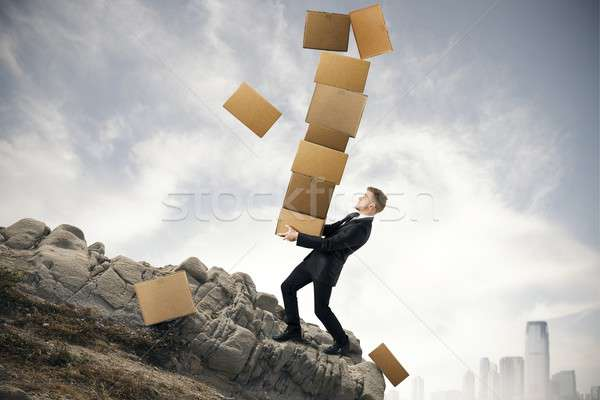 Difficult career of a businessman Stock photo © alphaspirit