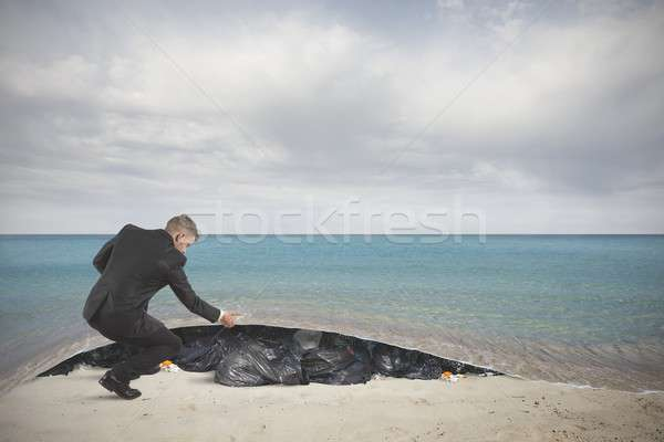 Stock photo: Pollution of the sea