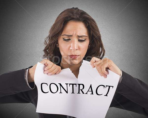 Tear the contract Stock photo © alphaspirit
