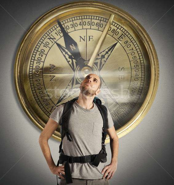 Compass of explorer Stock photo © alphaspirit