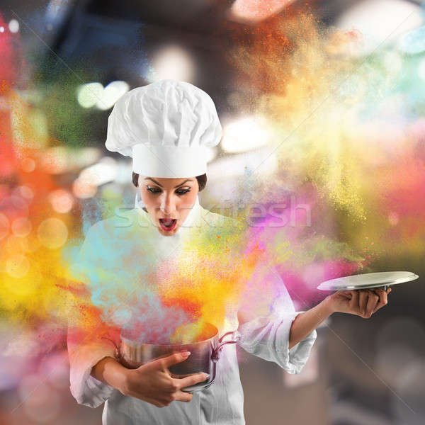 Explosion of colors in the kitchen Stock photo © alphaspirit
