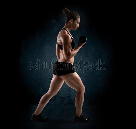 Woman workout Stock photo © alphaspirit