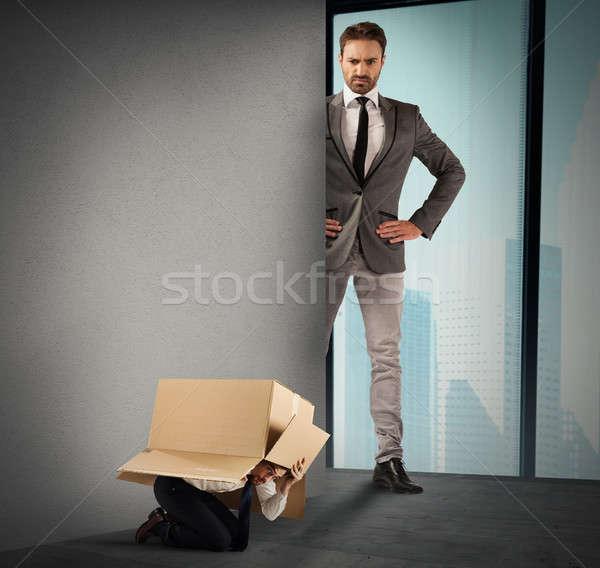 Büyük patron kutu Stok fotoğraf © alphaspirit