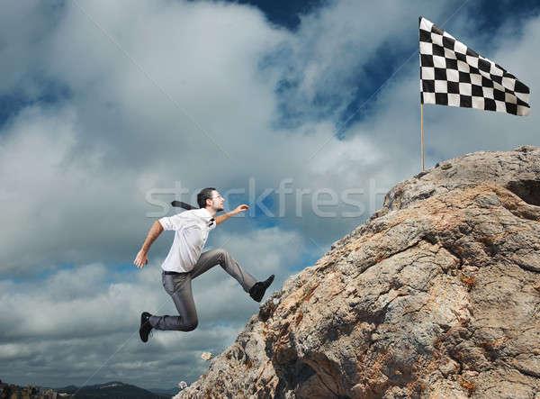 Difícil carreira realização negócio meta empresário Foto stock © alphaspirit