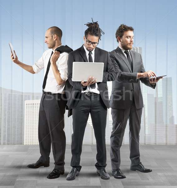 Business people very busy Stock photo © alphaspirit