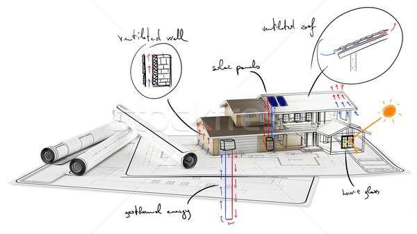 Home costruzione piano carta casa business Foto d'archivio © alphaspirit